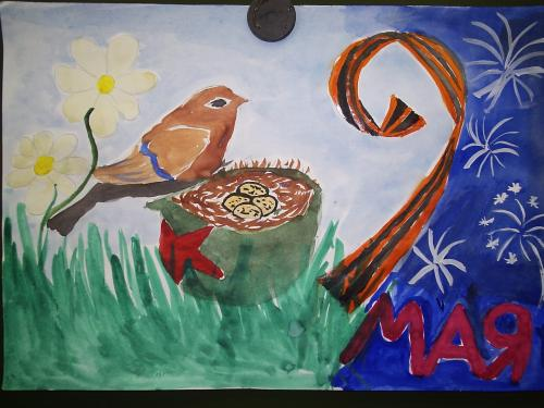 Картинки рисунки детей 4 лет день победы